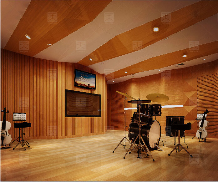 广东广州米蒂动漫录音棚声学工程设计效果图