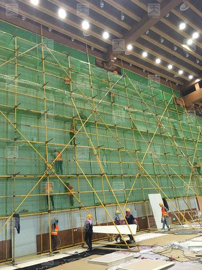 敦煌国际会展中心会议厅施工1