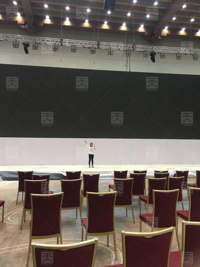 敦煌国际会展中心会议厅完工2