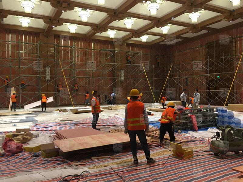 敦煌国际会展中心多功能厅施工2