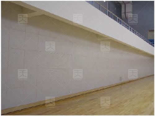 图4 比赛池墙面吸声处理