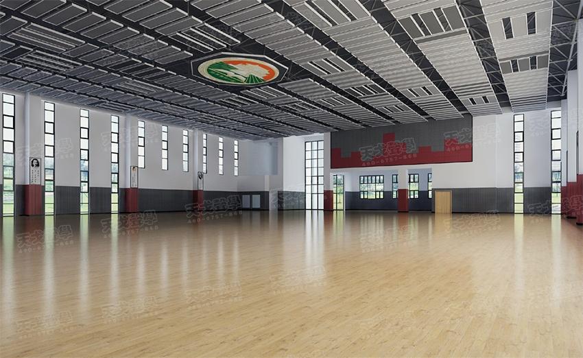 图2-建筑声学改造前体育馆内装修效果