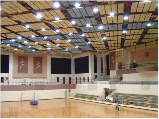 图3-建筑声学改造后体育馆内装饰效果