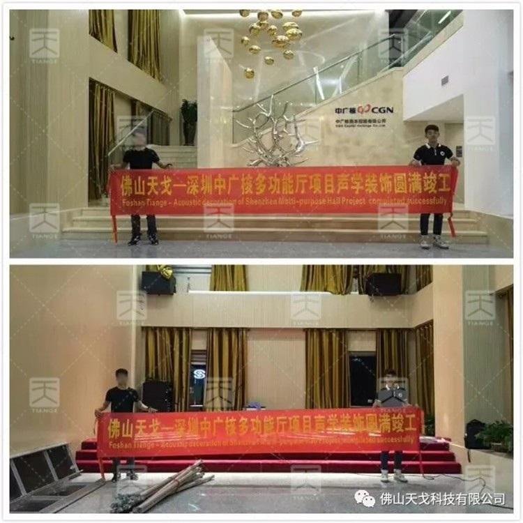 深圳中广核多功能会议厅声学工程 - 天戈声学
