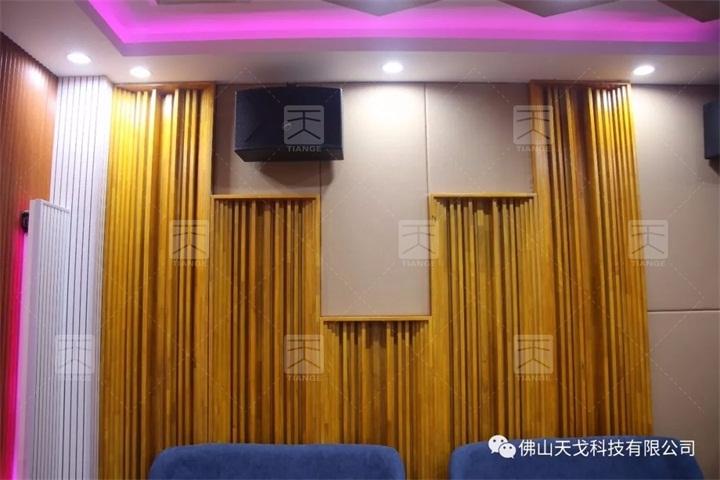 广州浩瀚文化传媒有限公司音乐排练室声学工程用到的三角扩散体