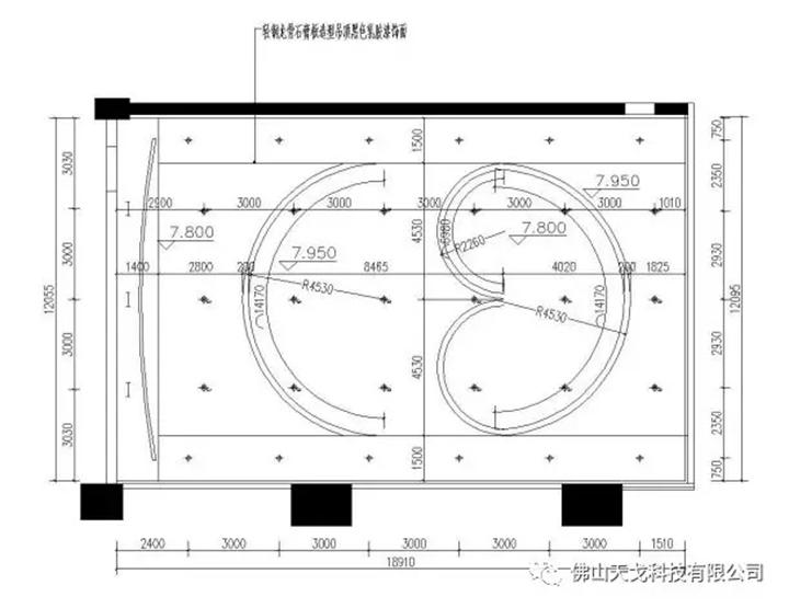 顺德宏晟国际影城天花声学设计图
