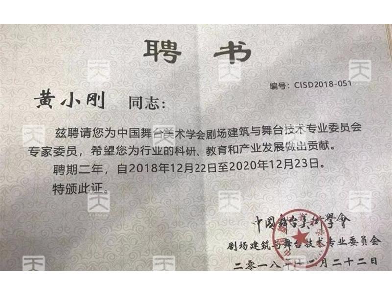 中国舞台美术学会剧场建筑与舞台技术专业委员会专家委员