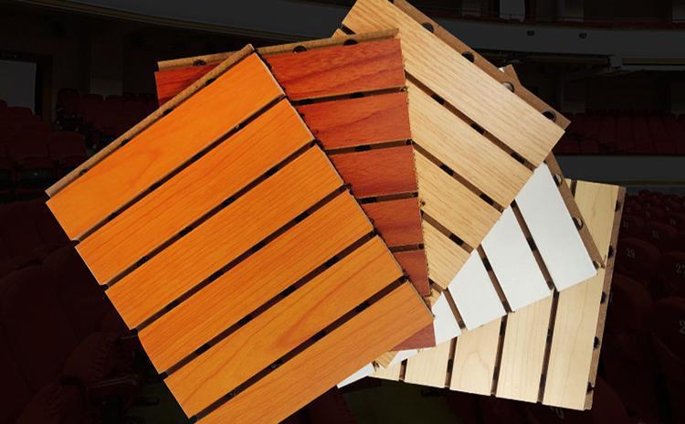 如何保养会议室槽木吸声板