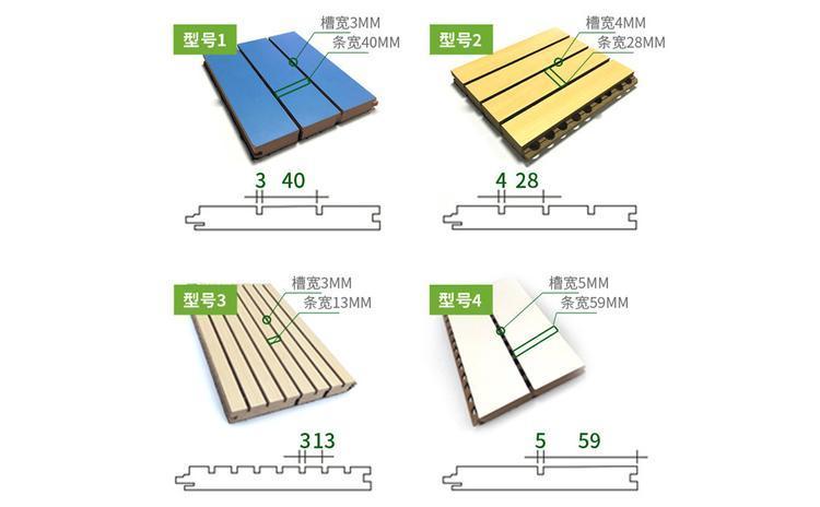 木质吸音板规格尺寸及厚度