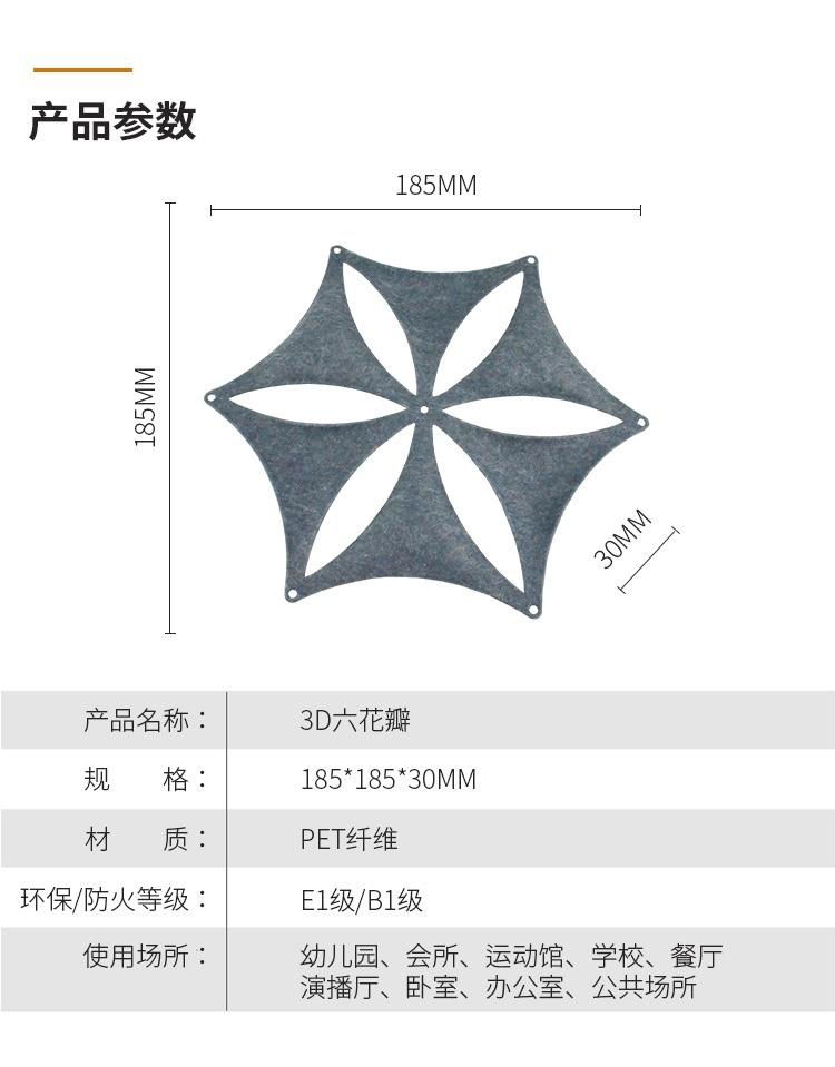 3D聚酯吸音板产品参数