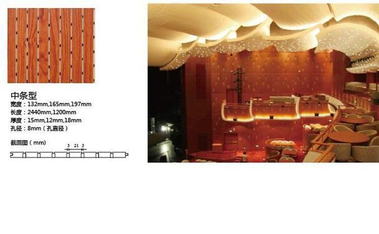 条孔大剧院吸音板