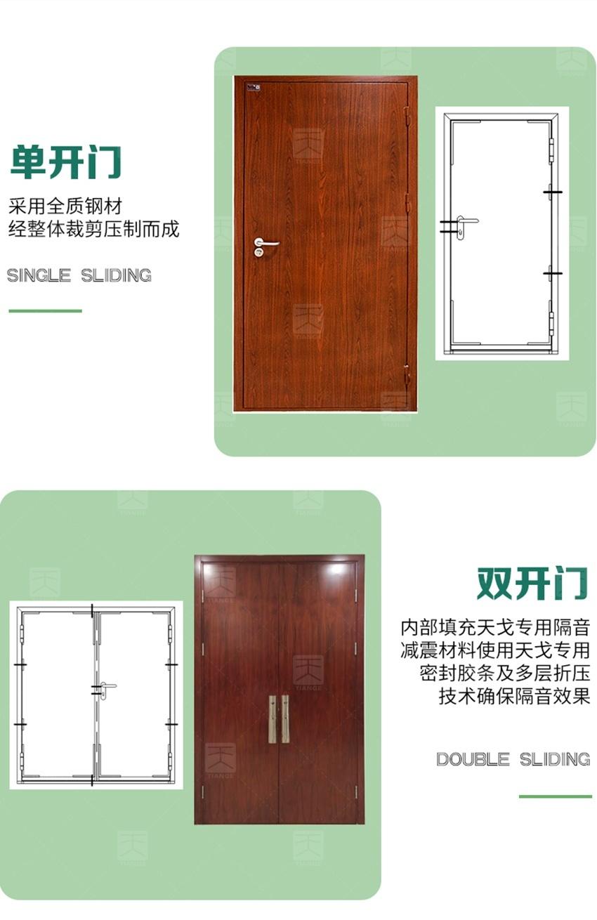 钢质木纹隔音门-4