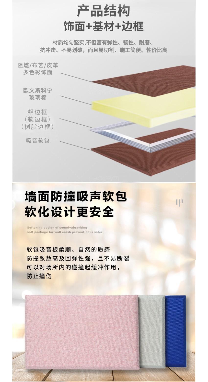 墙面软包吸音板产品结构
